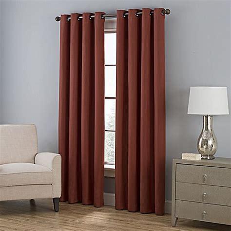 108 inch grommet curtain panels buy everett 108 inch grommet window curtain panel in spice