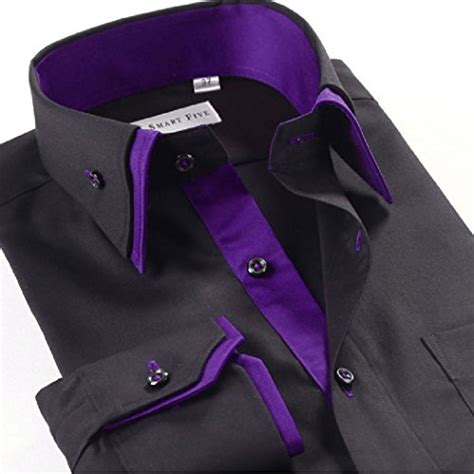 Gfp Casual Formal Shirts Slim Fit Katun Abu Lng 1643 lyon becker mens italian shirts collar slim fit casual button shirt buy in