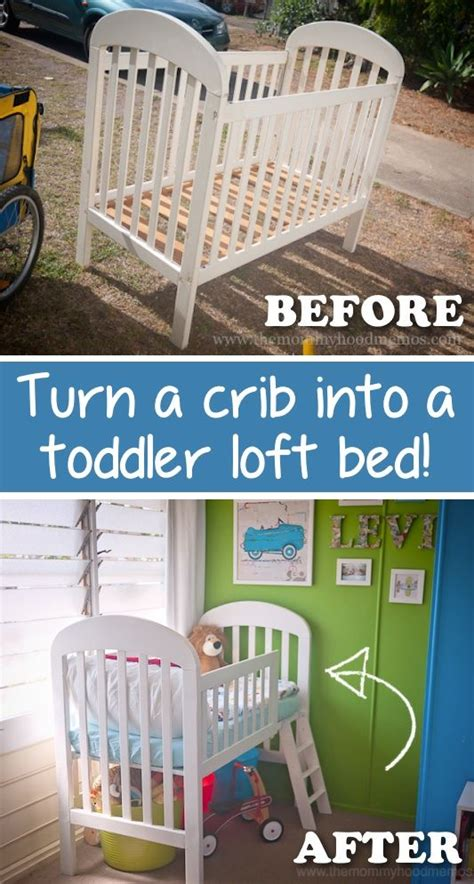 how to turn a crib into a toddler bed turn a crib into a toddler loft bed pictures photos and