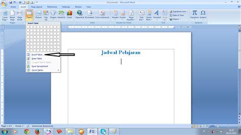 Microsoft Di Bawah 1jt cara membuat tabel pada microsoft words 2007 siap belajar