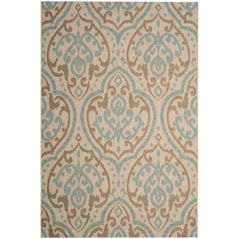 Martha Stewart Indoor Outdoor Rugs Safavieh Martha Stewart Beige Aqua 5 Ft 3 In X 7 Ft 7 In Indoor Outdoor Area Rug Msr4114