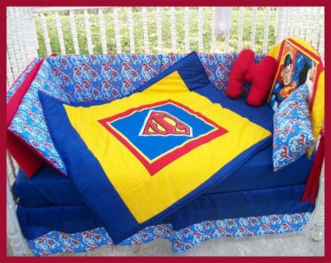 superman crib bedding new baby crib bedding set m w superman clark kent fabric