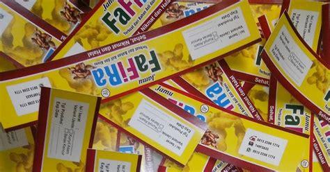 kartu nama  label stiker snack toko muslim indonesia