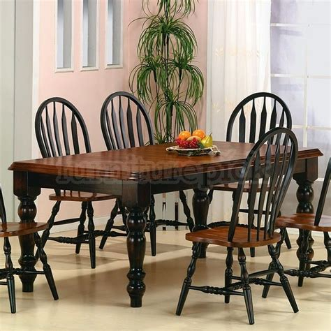black and cherry dining sets