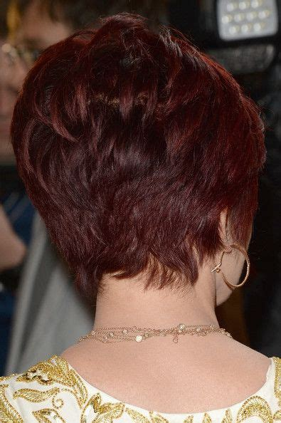 back view of sharob osbournes hair back view of sharon osbourne haircut