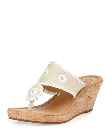 bone wedge sandals rogers marbella leather wedge sandal bone white
