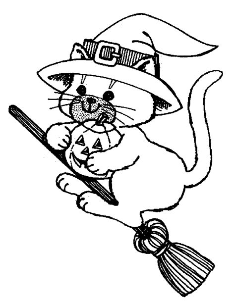 coloring page halloween cat halloween cat coloring page