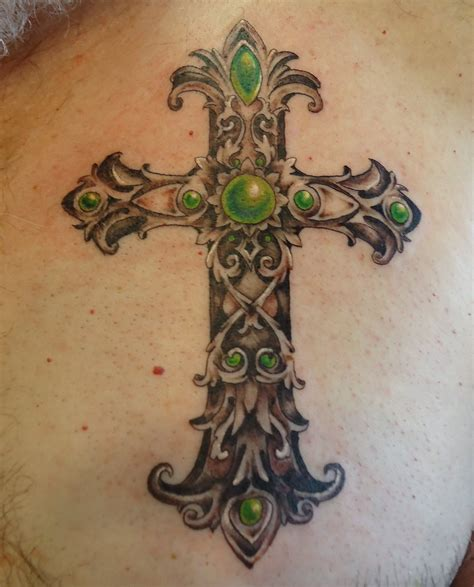 cross tattoo by eye eye catching cross tattoos for tattoomagz