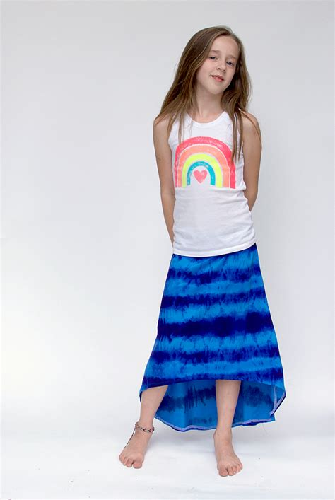 pattern house kent skirt hi low maxi skirt hey june handmade