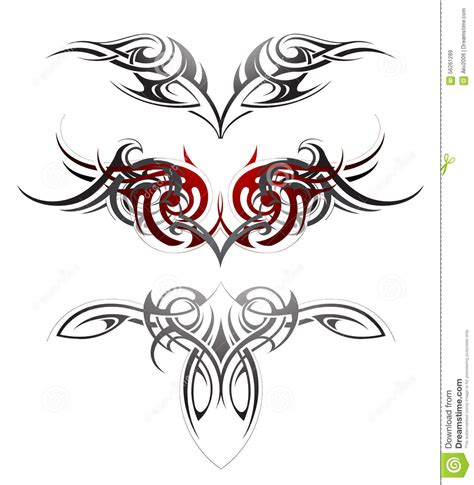 body tattoo vector body art tattoo set stock vector image 56261289