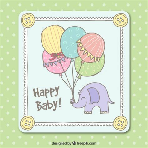 baby shower card in style vector free