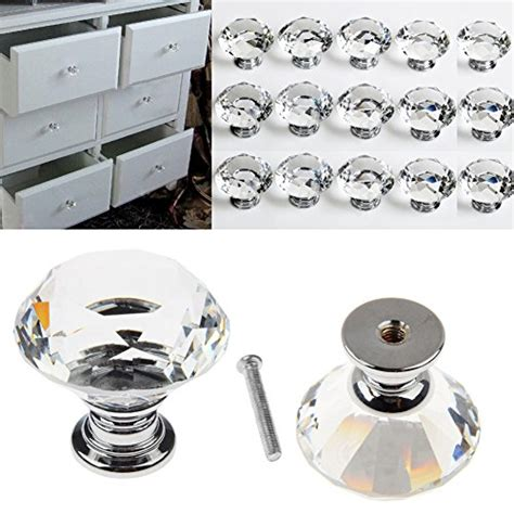 clear kitchen cabinet knobs buy 16pcs crystal glass door knobs clear diamond pull