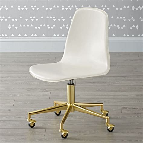 white and gold desk chair white gold class act desk chair the land of nod