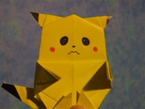 Origami Pickachu - origami pikachu xd by frazzer on deviantart