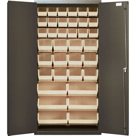 Quantum Storage Cabinet Quantum Storage Cabinet With 36 Bins 36in X 18in X 72in Size Ivory Model Qsc 36 Fd