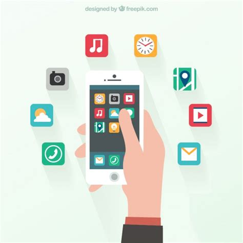mobile gratis smartphone in flat design vector free
