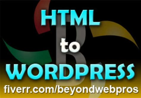convert html to wordpress theme or psd to wp theme by
