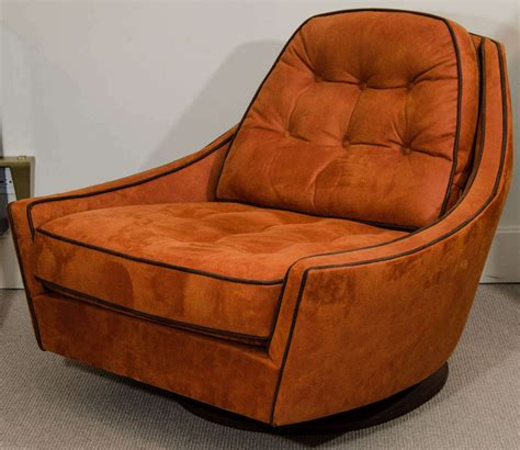 chairs and ottomans for sale vintage swivel club chair and ottoman for sale at 1stdibs
