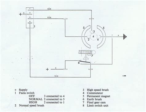 lucas wiper motor wiring diagram wiring diagram with