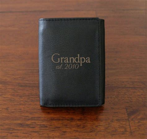 items similar to personalized mens wallet grandpa gift
