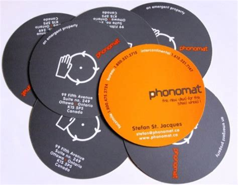 circular business cards templates creative exles of die cut business cards naldz