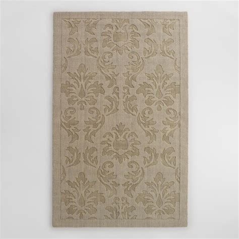 carved wool rugs gray floral carved wool adele area rug world market