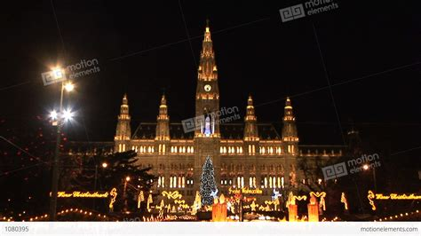 christmas lights in vienna stock video footage 1080395