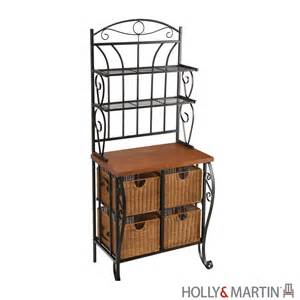 What Is A Bakers Rack Used For Lillian Iron Rattan Baker S Rack By Martin At