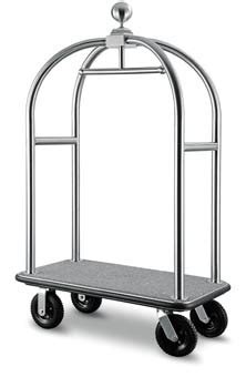 Troli Hotel Trolley birdcage porters trolley hotel luggage trolley