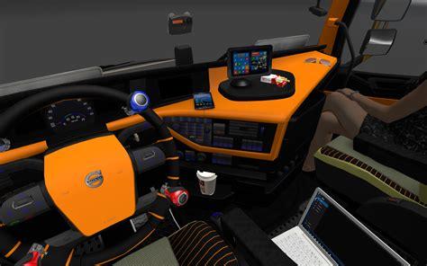 volvo 2012 black orange interior ets 2 mods euro truck simulator 2 quot volvo 2012 black orange interior