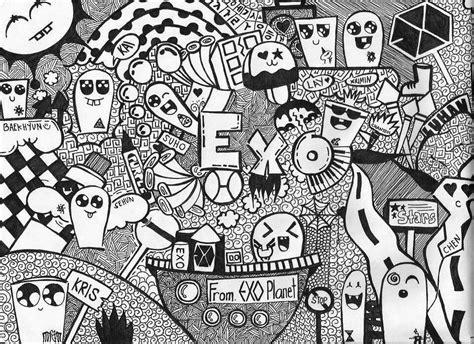gambar doodle art simple keren lucu   membuatnya