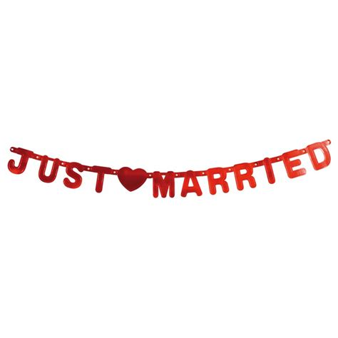 Just Married Girlande by Girlande Just Married Hochzeitsgirlande Rot