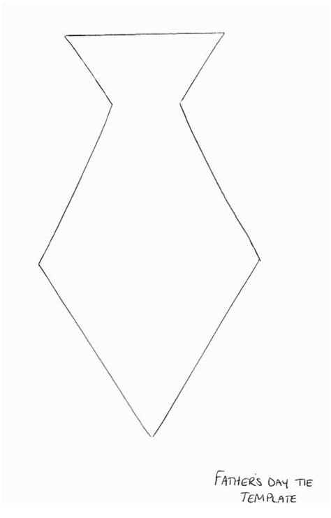 template for tie tie template 180 s day crafts