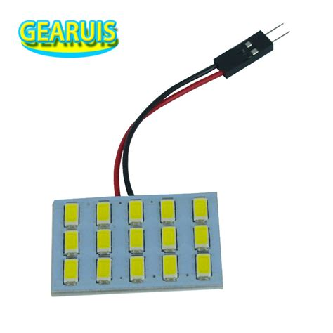 2x car dome light 15 smd 5630 15smd 5730 led car interior roof panel reading auto with t10 ba9s
