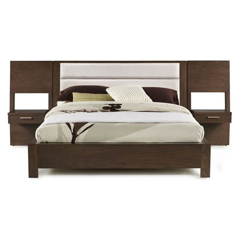 Platform Bed With Nightstands Attached Platform Bed With Built In Nightstands 2017 And Bedroom Ikea Floating Headboard King Picture