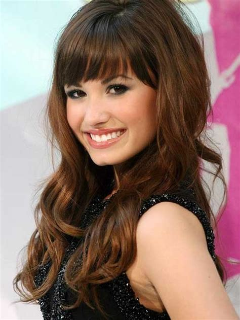 30 hairstyles for curly hair with bangs long hairstyles