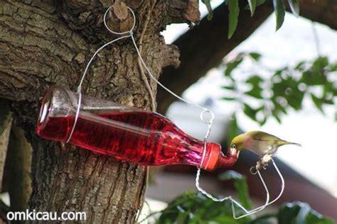 Tempat Pakan Burung Otomatis membuat tempat minum dari botol bekas om kicau