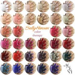 sallys color sally hansen color therapy swatches nail that accent