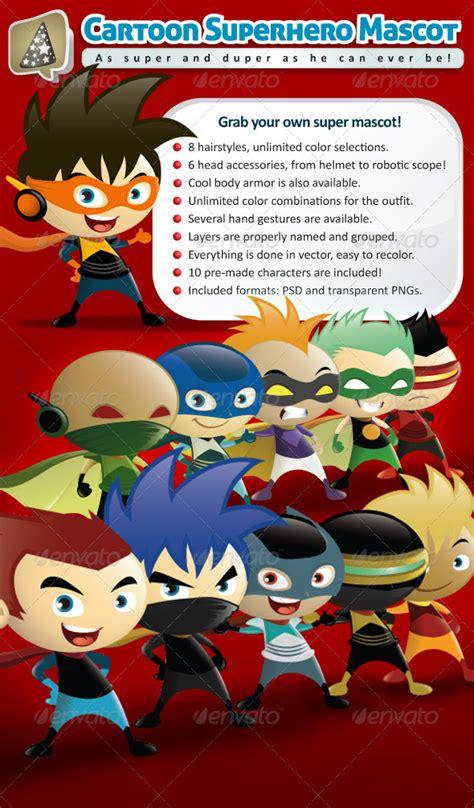 get graphicriver cartoon superhero mascot creator