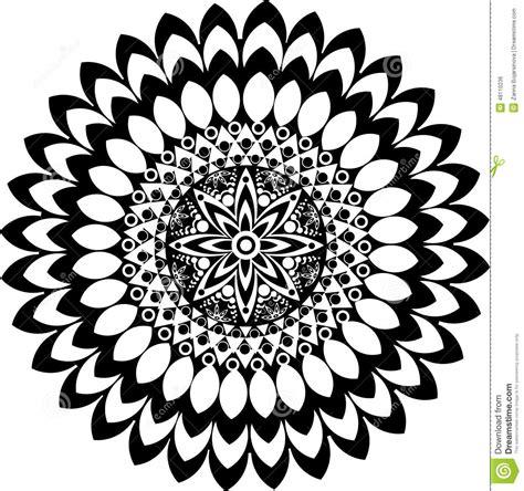 imagenes en blanco y negro de mandalas mandala blanco y negro ilustraci 243 n del vector imagen