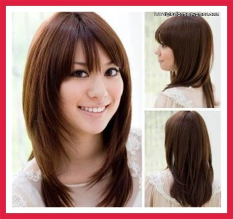 medium length hairstyles for thick hair and round faces medium hairstyles for women with thick hair medium