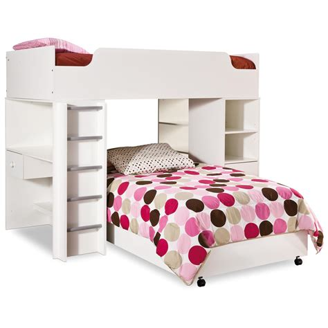 white bunk bed with desk furniture white wooden bunk bed with storage drawer