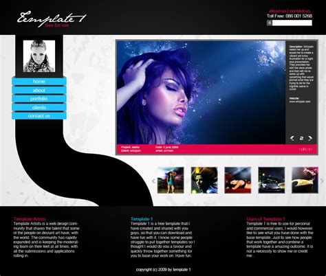 Template 1 Psd By An1ken On Deviantart Photoshop Website Templates