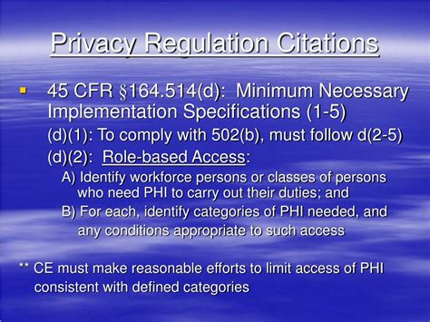 45 cfr section 164 512 ppt hipaa minimum necessary use disclosure role based