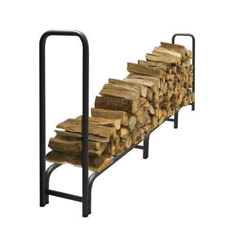 Log Firewood Rack by Uniflame Decorative Firewood Rack With Removable Leather