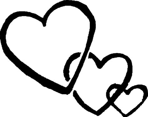 black and white three black and white hearts clipart black and white 3 clipartix cliparting