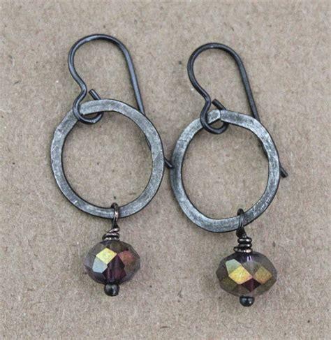 boho jewelry black metal earrings bohemian jewelry vintaj