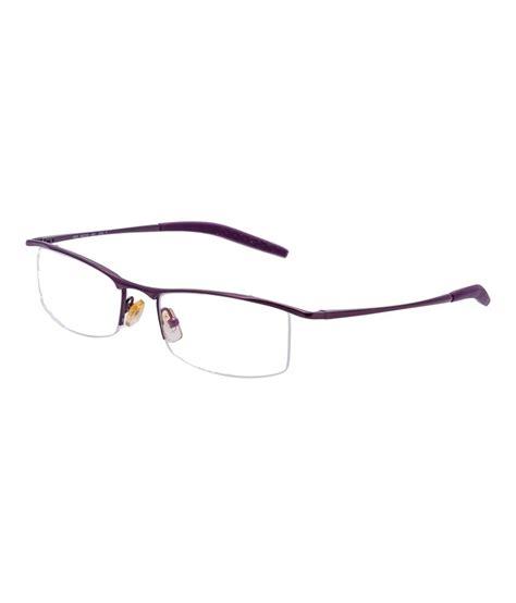 aks anti glare half rectangle metal eyeglasses buy
