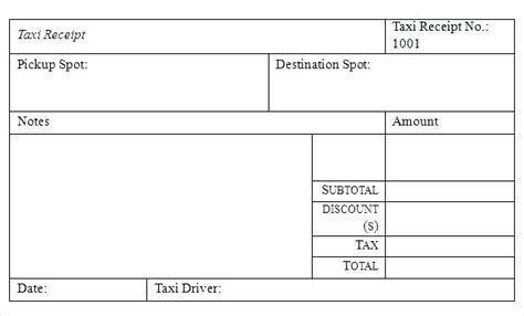 Miami Taxi Receipt Template by Miami Taxi Receipt Kinoroom Club