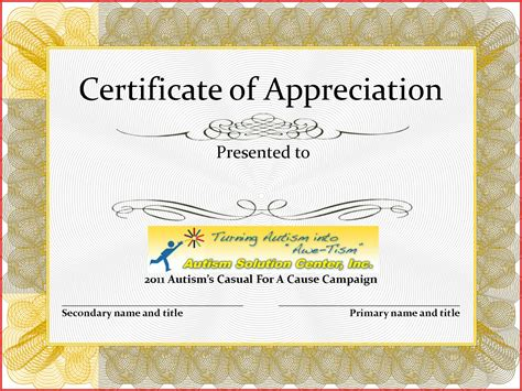 template for certificate of appreciation appreciation certificate template ideas